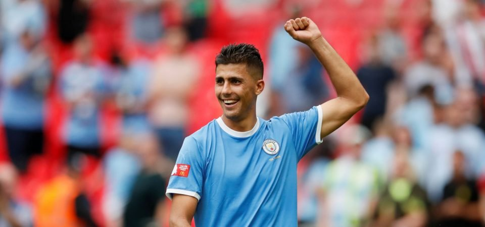 Manchester City fans impressed with Rodri performance