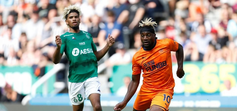 Newcastle fans are head over heels in love with Allan Saint-Maximin