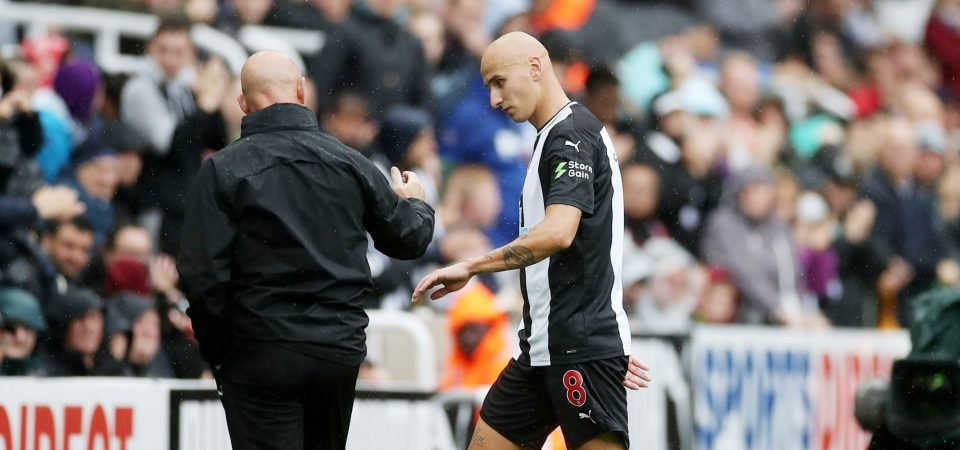 Newcastle on brink of midfield crisis with Jonjo Shelvey injury