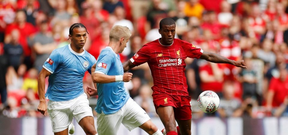 Liverpool forced to carry Georginio Wijnaldum as they lose to Manchester City