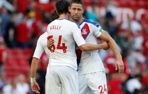 Crystal Palace fans laud Gary Cahill for excellent performance on club debut