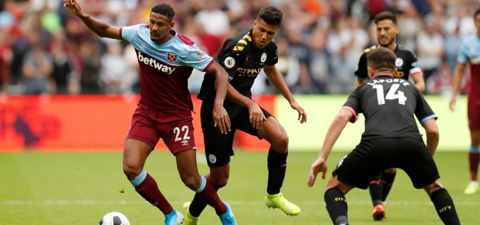 West Ham's record signing Sebastien Haller proved he can hold his own vs Man City