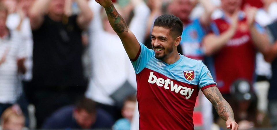 West Ham fans are mixed on Manuel Lanzini form