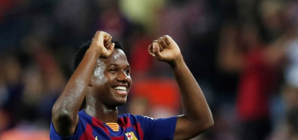 Barcelona fans are in awe of the young Ansu Fati after the clash against Osasuna