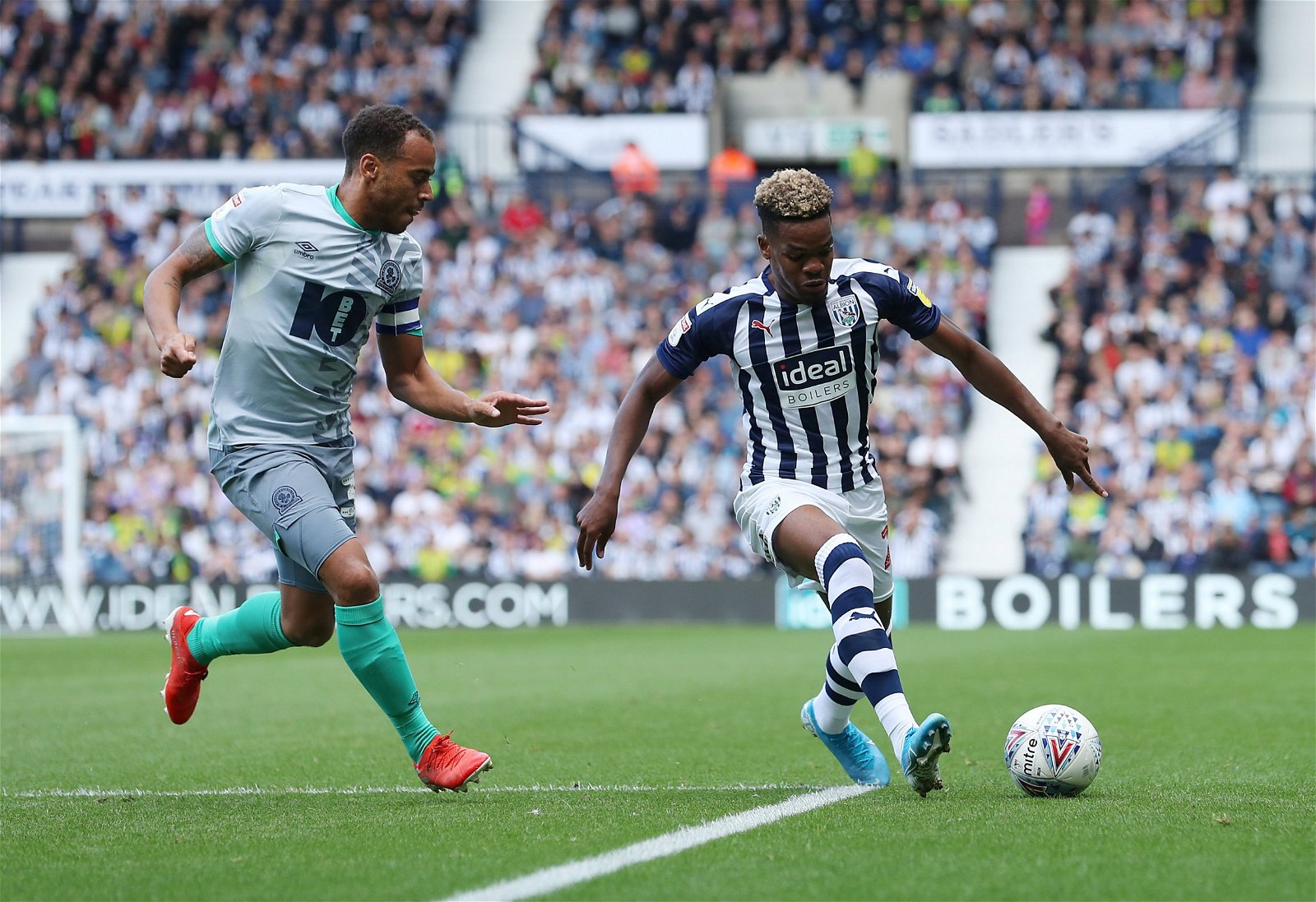 Grady Diangana in action for West Bromwich Albion