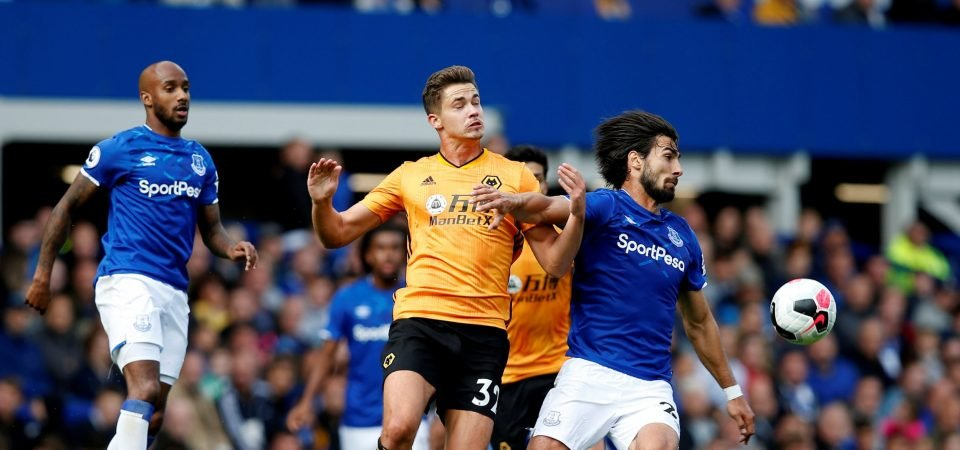 Everton fans loved Andre Gomes' performance against Wolves