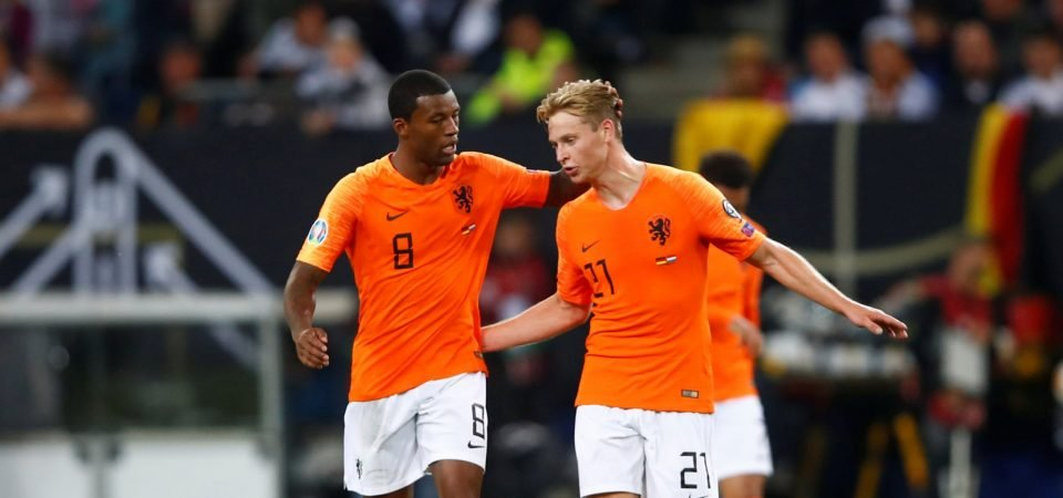 Barcelona's Frenkie de Jong was brilliant for the Netherlands against Estonia