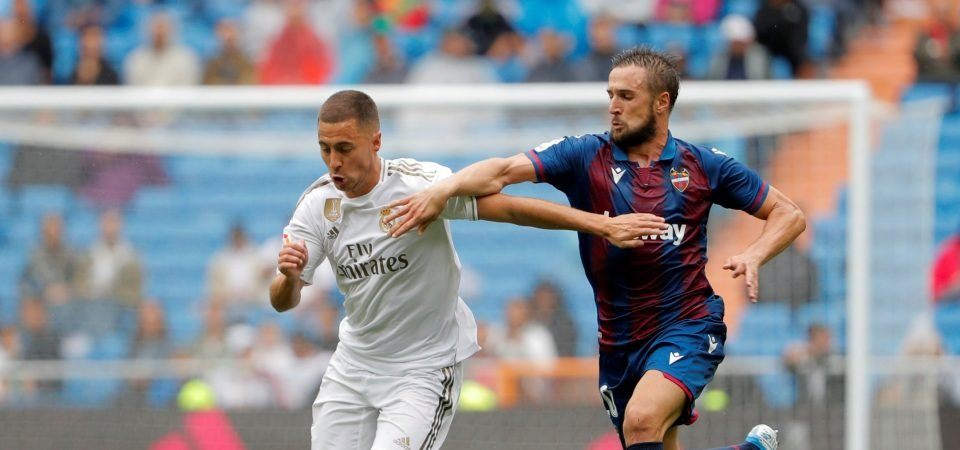 [Image] - Eden Hazard makes his competitive debut for Real Madrid