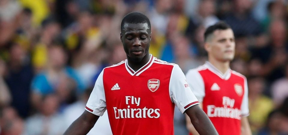 Zaha stands up for Pepe amid poor opening to Arsenal career