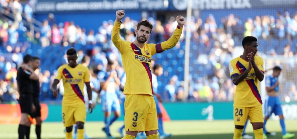 Barcelona's Gerard Pique made sure they would get their clean sheet vs Getafe