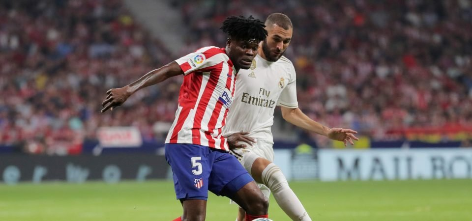 Real Madrid had trouble containing Thomas Partey in the Madrid derby