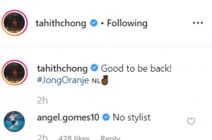 Man United youngster Angel Gomes teases Tahith Chong following Instagram post