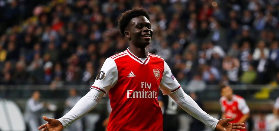 Arsenal youngster Bukayo Saka struggles against Sheffield United