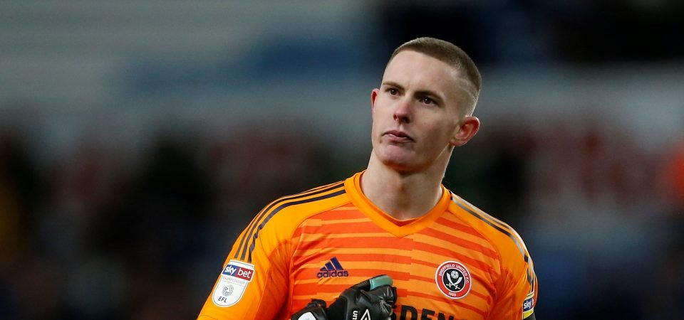 Sheffield United's Dean Henderson posts on Twitter after England call-up