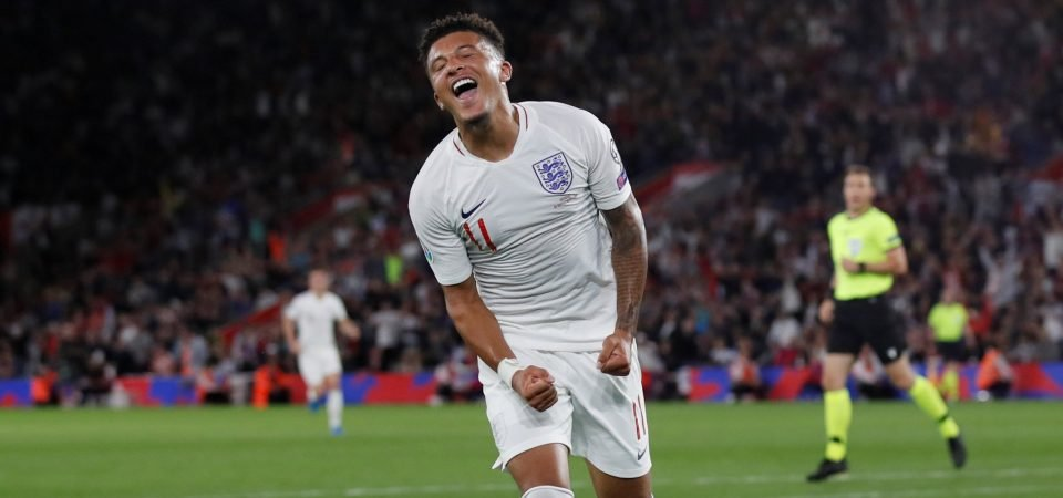 Tottenham fans want to sign Jadon Sancho after two-goal England display
