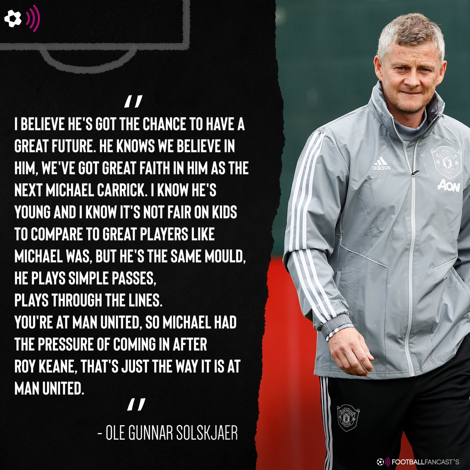 Solskjaer on James Garner