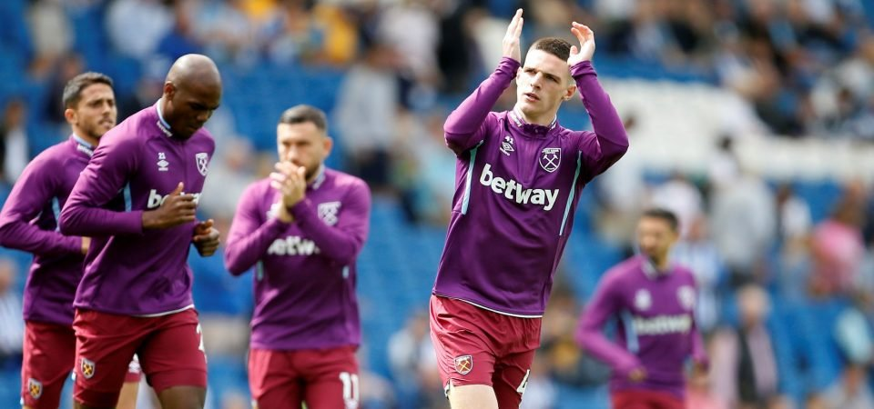 West Ham fans react to reported asking price of Declan Rice