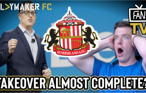 Pl>ymaker FC's Jam Sarny looks over the latest details of Sunderland's takeover