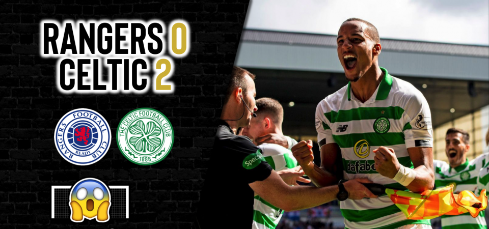 Pl>ymaker FC's C'mon the Hoops reacts to Celtic's Old Firm victory
