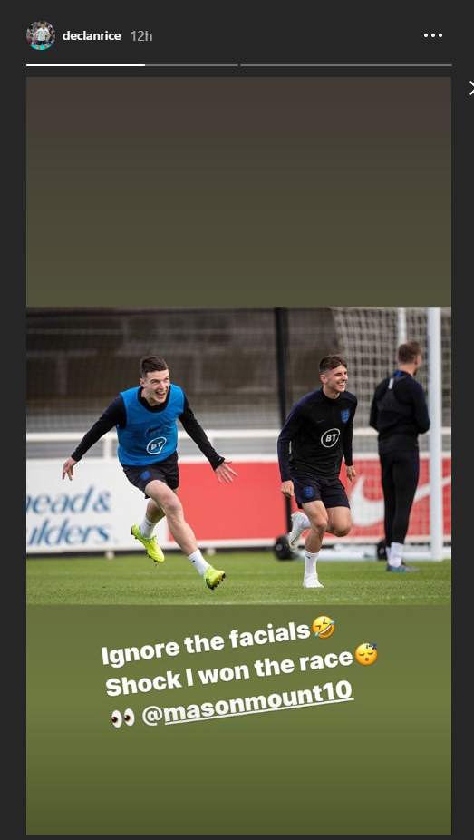129 e1570629996922 - Declan Rice posts surprising results of training ground battle with Mason Mount