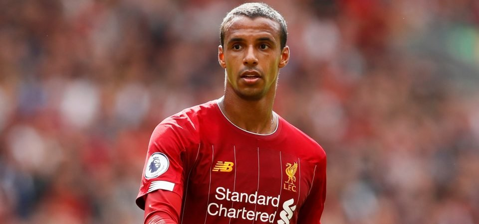 Joel Matip's injury return could be a huge boost to Liverpool ahead of Man Utd clash