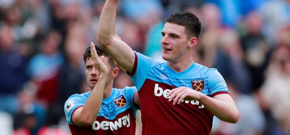 West Ham's Declan Rice is overrated according to Jamie O'Hara