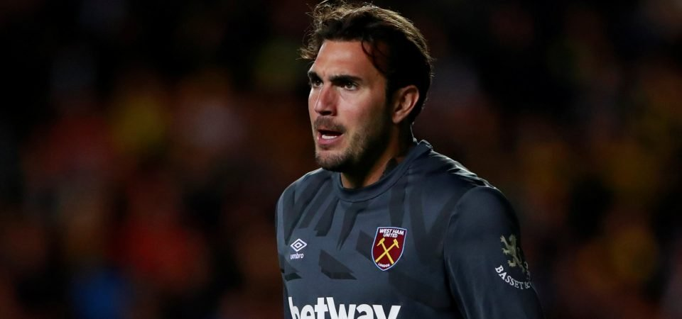 West Ham fans show faith in Roberto to fill in for Lukasz Fabianski