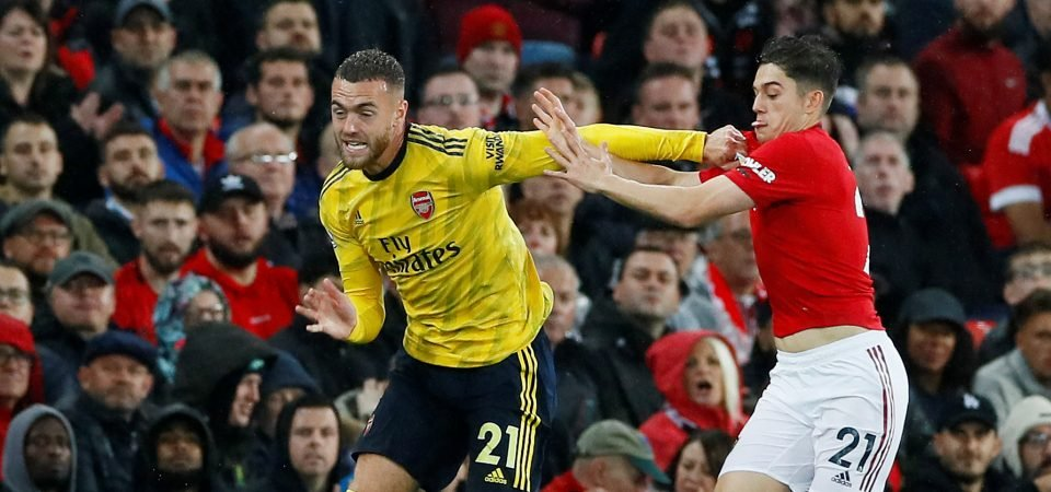 Arsenal fans want to see Calum Chambers start at centre-back against Sheffield United