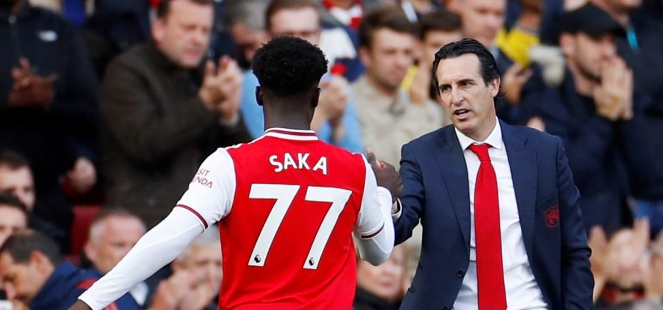 Arsenal midfielder Bukayo Saka is barred from the first team dressing room
