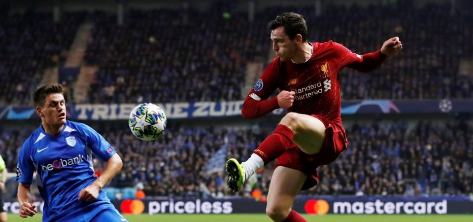 Liverpool fans react to Andy Robertson fitness boost
