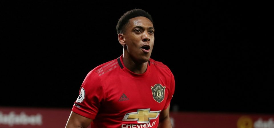 Manchester United striker Anthony Martial remains an injury doubt for Liverpool clash