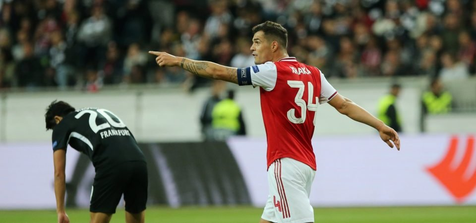 Arsenal captain Granit Xhaka put together a horrifying performance against Denmark