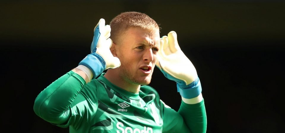 Everton's Jordan Pickford suffering from emerging Premier League syndrome