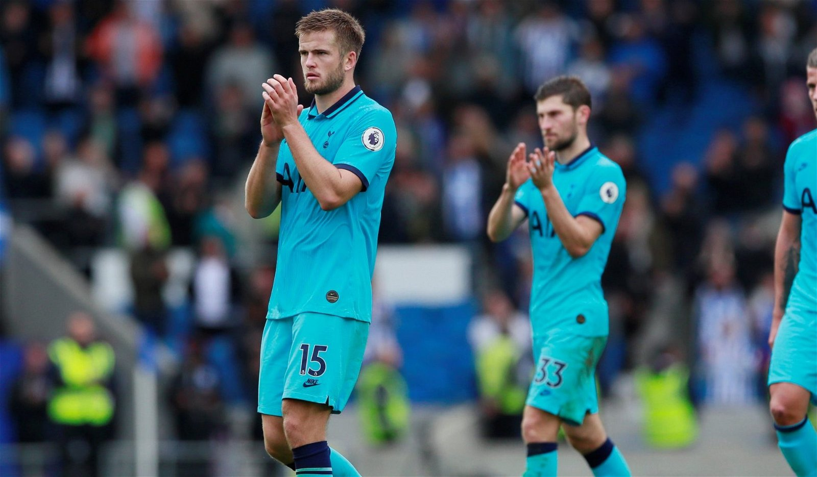 Tottenham midfielder Eric Dier applauds the fans after Brighton defeat e1570802620610 - Three Spurs men set to benefit most from Mourinho appointment - opinion
