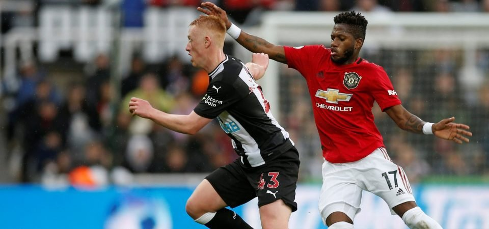 Manchester United fans slam Fred after losing 1-0 to Newcastle