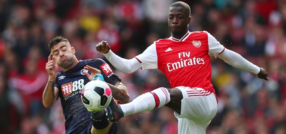 Arsenal fans fume as Nicolas Pepe is denied a penalty against Bournemouth