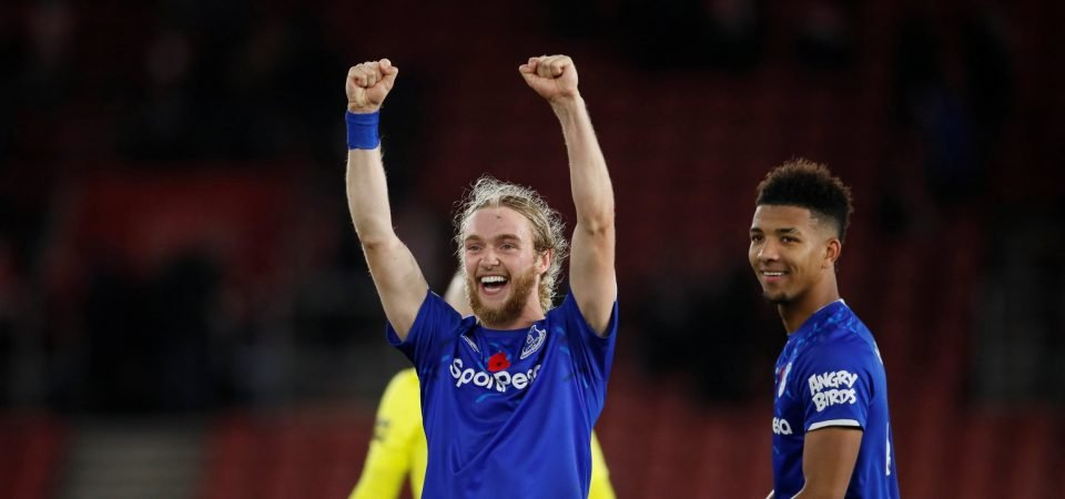 Everton's Tom Davies says the idea is to be Everton's Steven Gerrard