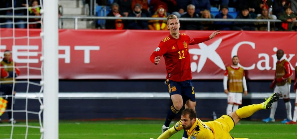 Manchester City target Dani Olmo enjoys exciting debut for Spain