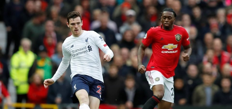 Liverpool's Andrew Robertson has been better than Jordi Alba over the last year