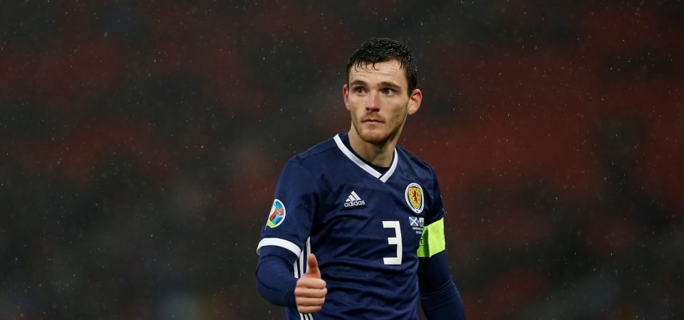 Liverpool's Andrew Robertson reacts to Celtic win on Twitter