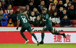 Newcastle fans sing the praises of Allan Saint-Maximin after he scores his first goal
