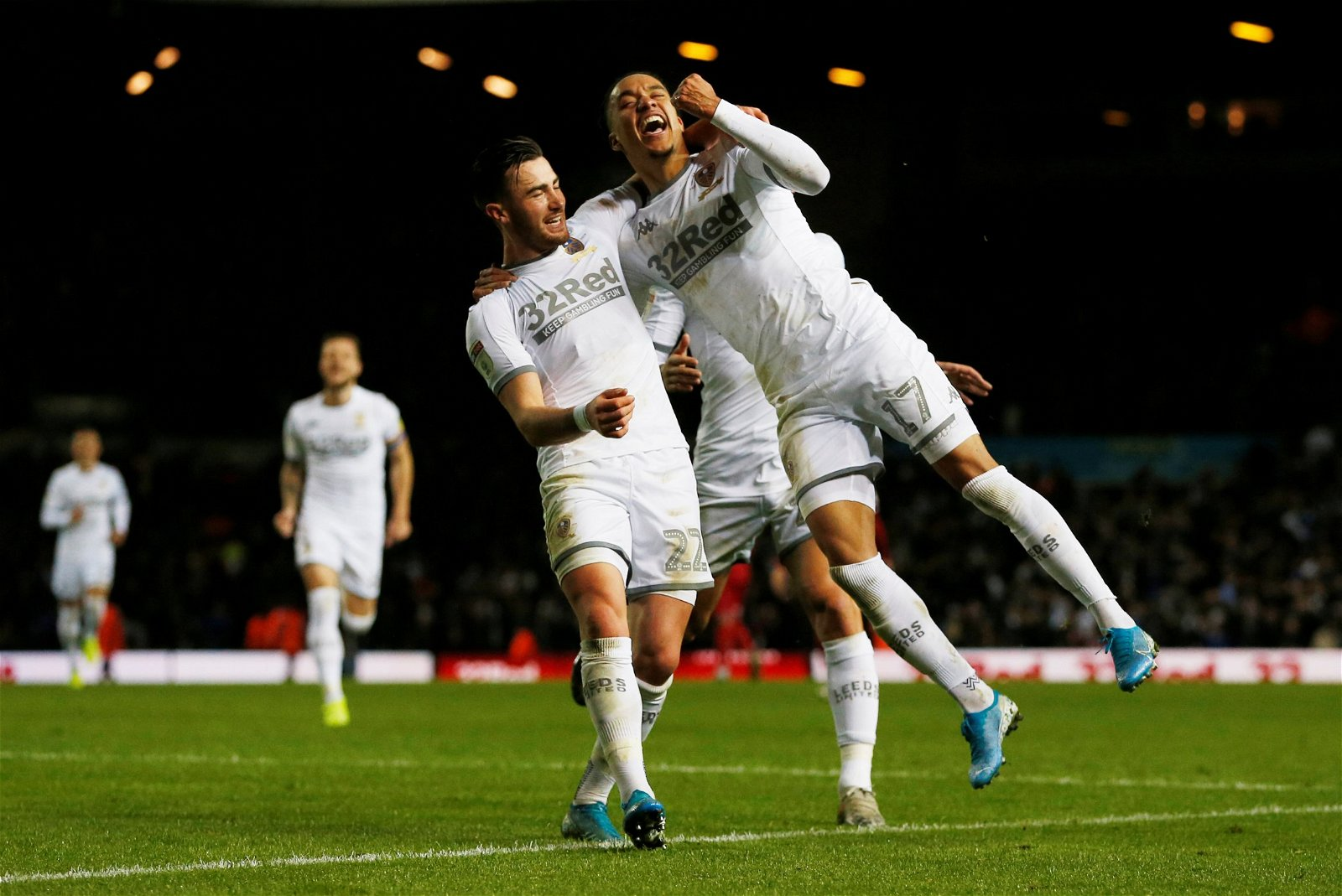 Helder Costa celebrates - [Image] – The moment Leeds fans have been made to wait 150 days to see