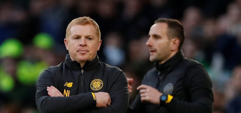 Neil Lennon cuts a bewildered figure during Old Firm derby