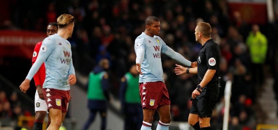 Aston Villa striker Wesley made his unorthodox contribution against Man United