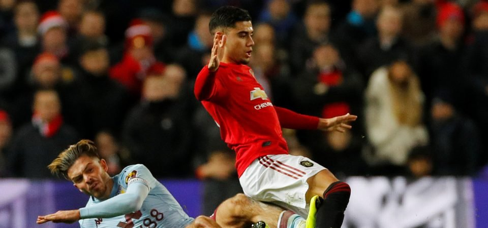 Manchester United fans criticise Andreas Pereira for his performance against Villa