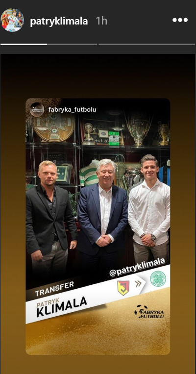 2020 01 14 e1579015006910 - Patryk Klimala pictured with Peter Lawwell after completing £3.5m Celtic transfer