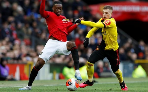 Man United Fans Hail Aaron Wan Bissaka Showing Vs Watford Footballfancast Com