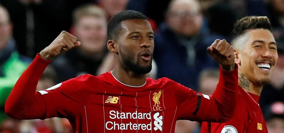 Wijnaldum was excellent in Liverpool's win against Sheffield United