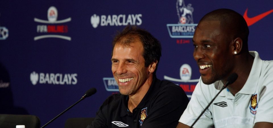 Carlton Cole names Zola as the manager who got the best out of him at West Ham