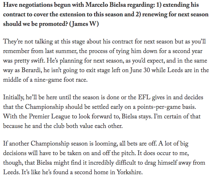 phil hay on marcelo bielsa future